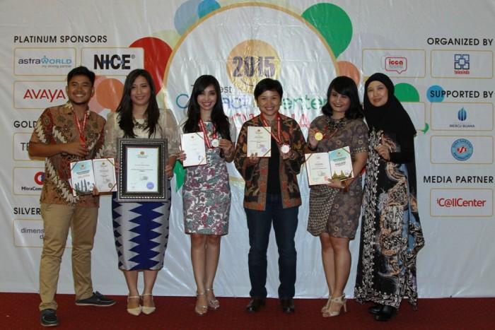 AHM Raih Anugerah The Best Contact Center Indonesia 2015