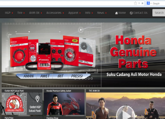 The New Website Honda Genuine Parts (HGP) dan AHM Oil