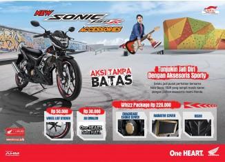 New Honda Sonic 150R Accessories, Tunjukin Jati Diri dengan Aksesoris Sporty