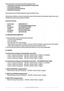 7. Detil Kontak HMC - Persyaratan Kompetisi - Hadiah Seri Regional