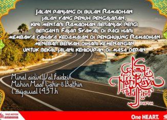 Selamat Hari Raya Idul Fitri 1437H