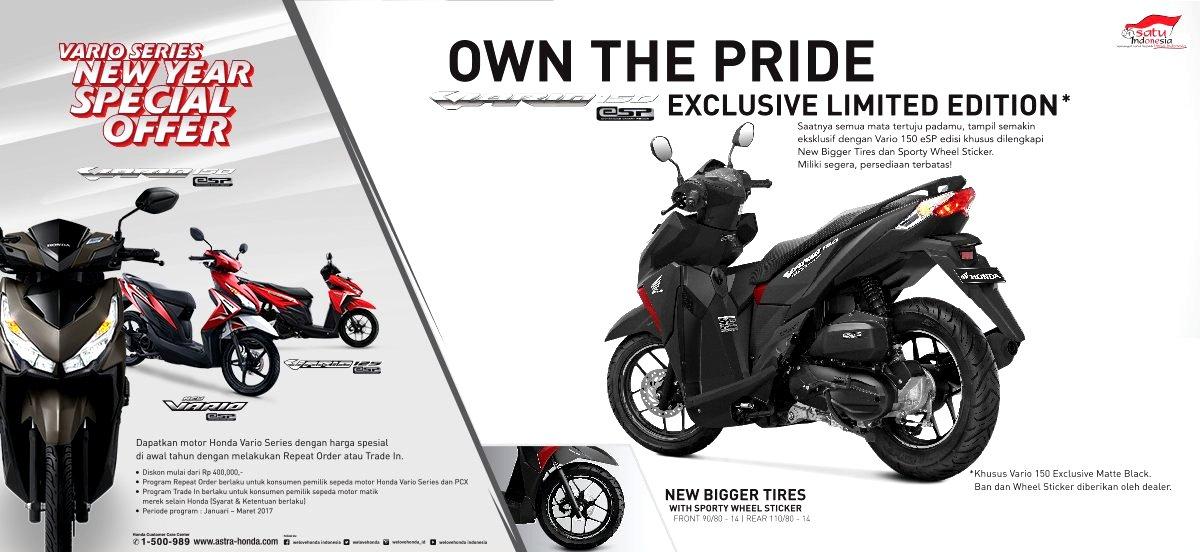 Trio Motor Promo Awal Tahun Untuk Pecinta Honda Vario