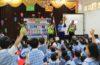 Trio Motor Sosialisasikan Rambu Lalin di TK