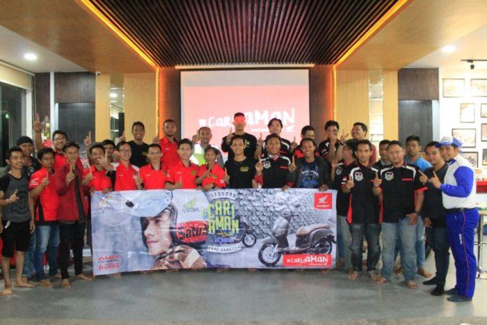 Sosialisasi #Cari_Aman untuk Komunitas Honda Banjarmasin