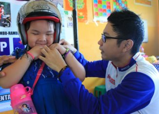 Trio Motor Ajarkan Safety Riding Untuk Anak-anak TK
