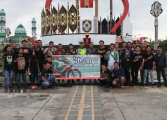 Komunitas Motor Honda Konvoi Jelajahi Kota Sampit