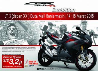 CBR 250RR Exhibition Akan Ramaikan Duta Mall Banjarmasin