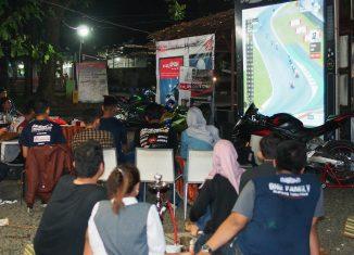 Serunya Nonton Bareng Moto GP Sambil Berbagi Bersama Komunitas Honda