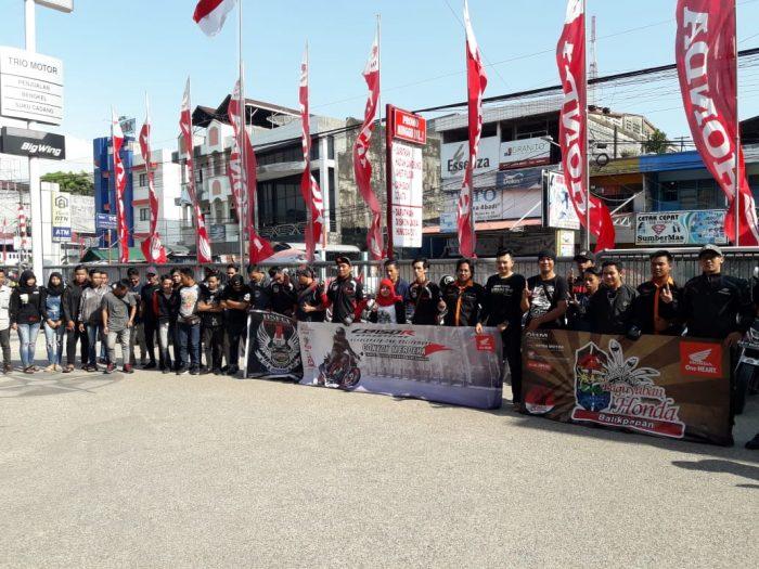PT Trio Motor Gelar Konvoi Merdeka bersama Komunitas Motor Honda