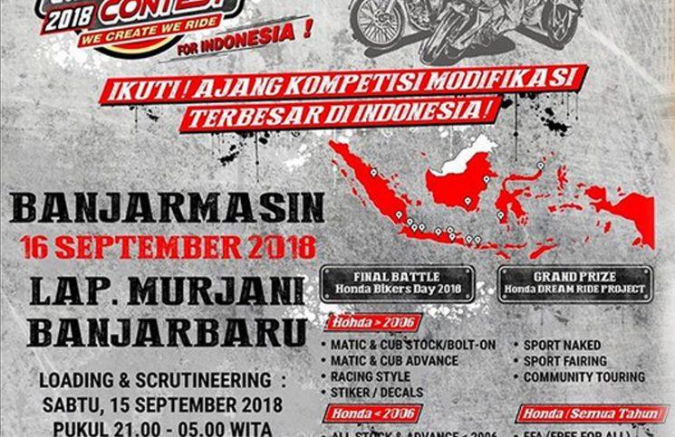 Honda Modif Contest 2018 Siap Kunjungi Kota Banjarbaru