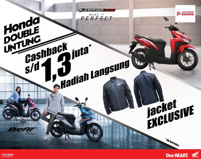 WOW! Honda Double Special Cashback dan Direct Gift!