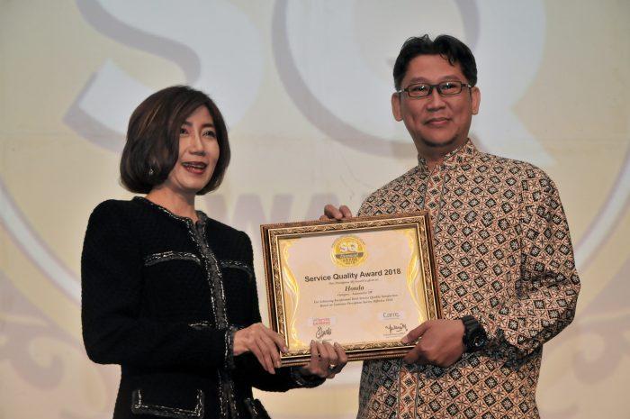 Semakin Berkualitas Layani Pelanggan, AHM Kembali Raih SQ Award