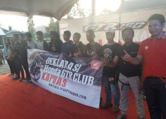 Deklarasi Honda GTR 150 Club Kapuas Berlangsung Meriah