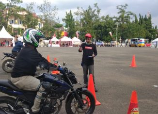 Honda Premium Matic Day Banjarbaru, Diramaikan Safety Riding Competition