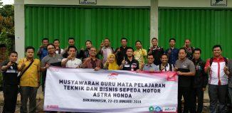 Trio Motor Bersama Guru SMK Binaan Honda Gelar Musyawarah Bersama
