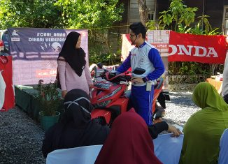 Trio Motor dan Polantas Edukasi Berkendara di Kampung Kehimungan