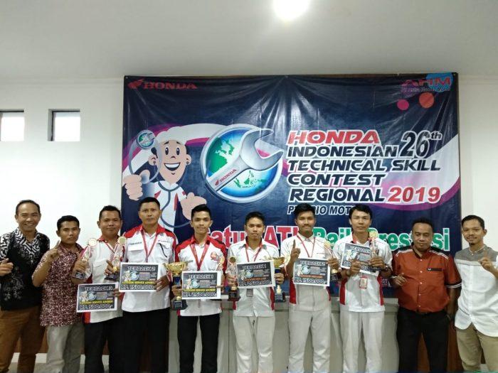 Ikuti Honda 26th Technical Skill Contest, Mekanik Honda Kalselteng Siap Berkompetisi