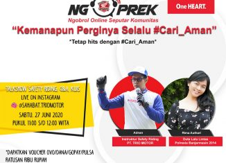 NGOPREK Safety Riding - Pengumuman Give Away