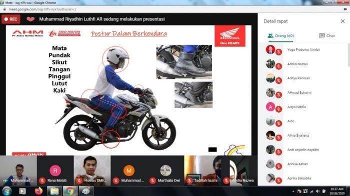 SMKN 4 Banjarmasin Gelar Webinar #Cari_Aman Berkendara Bersama Honda